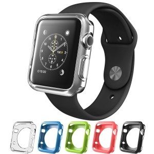 Apple Watch Case, i-Blason TPU Cases [5 Color Combination Pack] for Apple Watch Watch Sport Watch Edition 2015 Release 2015 (42 mm)