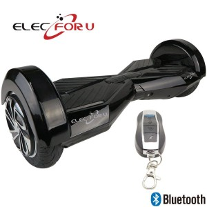 Elecforu Two Wheels Balance Electric Self Smart Balancing Scooters Drifting Skateboard with LED Light for Cool Outdoor Sports for Kids,Adults,Family (8 inch Black+Black)