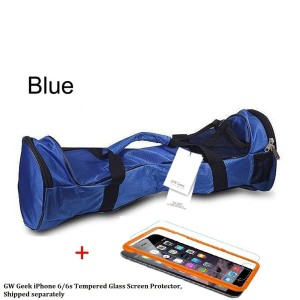 GW Geek Waterproof 6.5 8 10 Smart Two Wheel Electronic Self-Balance Scooter Carrying Bag and Handbag with iphone66s screen protectorBlue 6.5