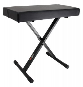 Gearlux Adjustable Keyboard Bench with Deluxe Padding - Black