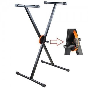 Hola! HPS-400B Heavy Duty Professional Folding Keyboard Stand with Patented Height Control