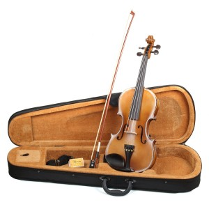 Hola! HV1 44 (Full) Size Solid Wood Student Violin Outfit, Antique