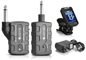 JOYO JW-01 Rechargeable 2.4Ghz Audio Wireless Digital Transmitter Receiver Guitar,Bass,Mandolin,Banjo w FREE Tuner
