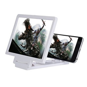 Magnifier Glass Phone Screen Enlarger Foldable Stand For Apple, Samsung, LG, Motorola, ZTE & Other Smart Phones