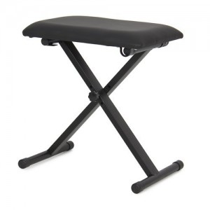 TopStageLeather Padded Piano Keyboard Bench Seat w Rubber Feet Stool Chair, JX90