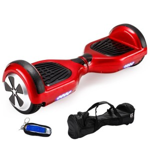 US Seller. Ship from US Warehouse. Red 6.5 Mini Self Balancing Scooter with Remote Control Free Bag Two Wheel Self Balance Smart Electric Scooters Hover Board Skateboard with Led Light