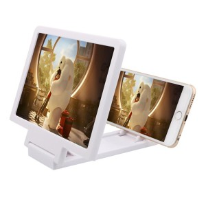 Zelta Cell Phone HD Movie Video Amplifier with Foldable Holder Stand for Apple iPhone 66s6 Plus6s Plus, Samsung Galaxy S6S6 EdgeS6 Edge+ &All other Smart Phones (White)