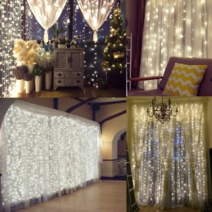 Naisidier Window Curtain String Lights