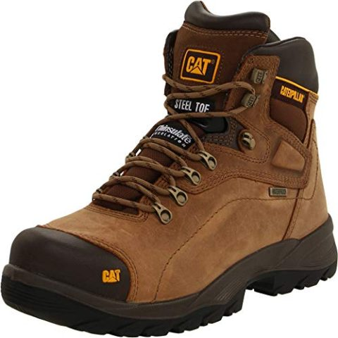 Caterpillar Diagnostic Steel Toe Waterproof Beige-Best for comfort