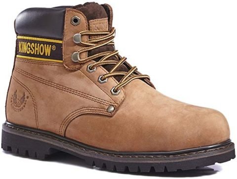 Men's 1606ST Steel Boots Brown-Best for construction work