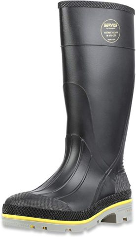 Servus Chemical Resistant Steel Boots Black-Best for use in the laboratory
