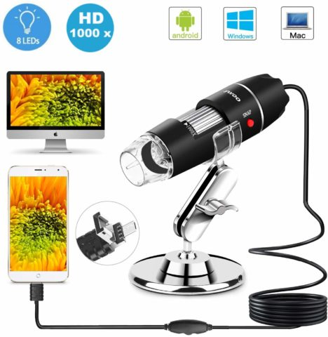 Sunnywoo USB microscope-The best usb microscope both for large or small objects