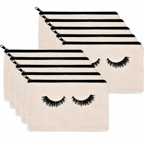 10 Pieces Eyelash Makeup Bags Cosmetic Bags Travel Make up Pouches with Zipper for Women Girls
