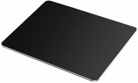 AZFUNN Hard Mouse Pad, Gaming Aluminum Alloy Mouse Mat, High-Grade PU Leather and Polycarbonate Dual-Use Mouse Pad for Fast and Accurate Control