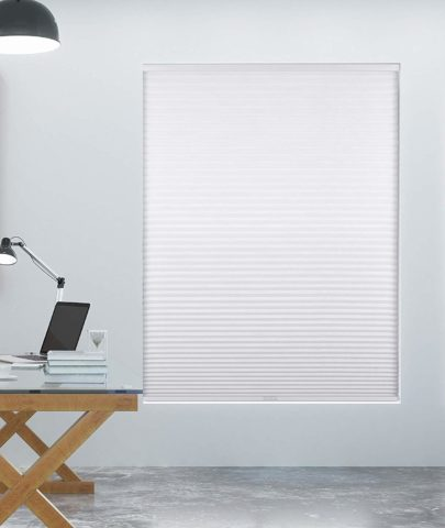 Arlo Blinds Single Cell Room Darkening Cordless Cellular Shades, Color White