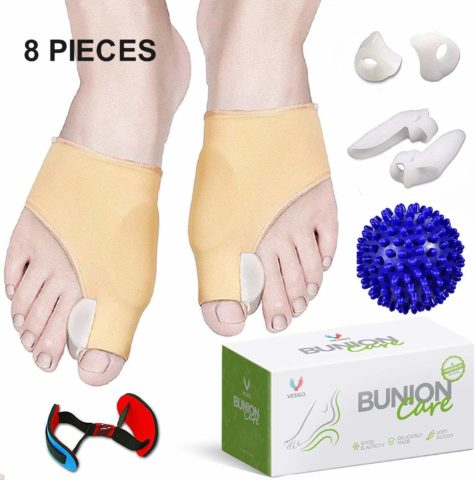 Bunion Corrector and Bunion Relief, Bunion Splint Socks Pads for Hallux Valgus, Big Toe Joint, Hammer Toe, Toe Separators Straighteners Spacers with Foot Massage Ball for Women and Men