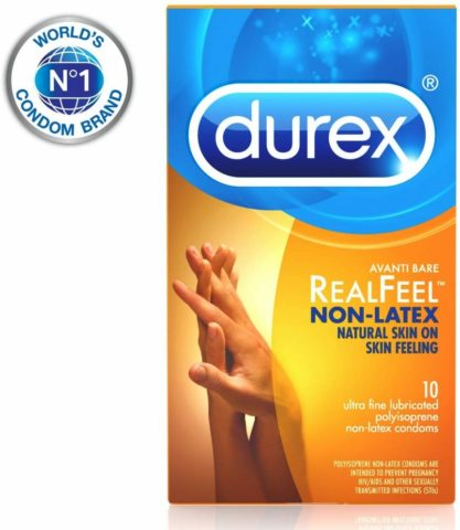 Condoms, Non-Latex Durex Avanti Bare RealFeel Condom