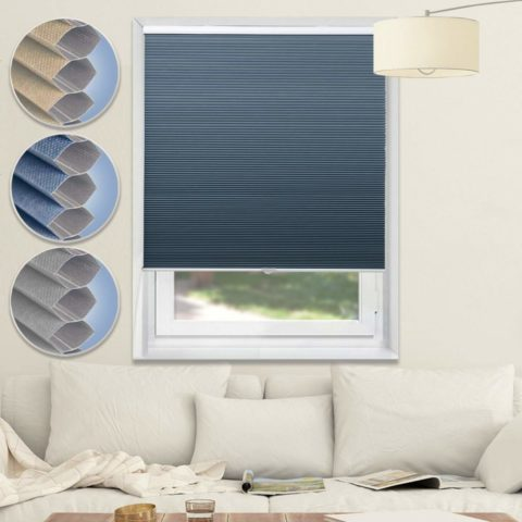 Cordless Shades Blackout Blinds Cellular Window Shades Honeycomb Blinds for Bedroom Kitchen Bathroom
