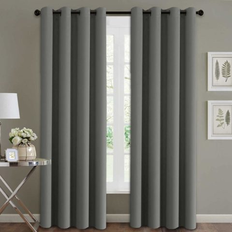 H.VERSAILTEX Blackout Thermal Insulated Room Darkening Winow Treatment Extra Long CurtainsDrapes, Grommet Panels