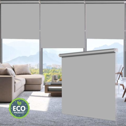 LUCKUP Blackout Waterproof Fabric Window Roller Shades Blind, Thermal Insulated,UV Protection,for Bedrooms,Living Room,Bathroom,The Office, Easy to Install