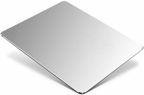 Metal Aluminum Mouse Pad, Office and Gaming Thin Hard Mouse Mat Double Sided Waterproof Fast and Accurate Control Mousepad for Laptop, Computer and PC