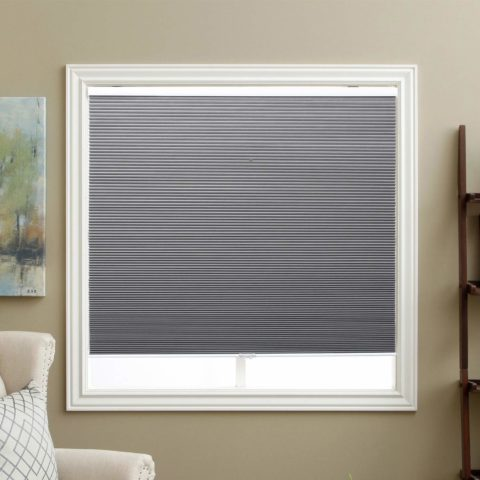 SBARTAR Cellular Shades Cordless Blackout Honeycomb Blinds Fabric Window Shades 23 W x 64 H, Cool Silver