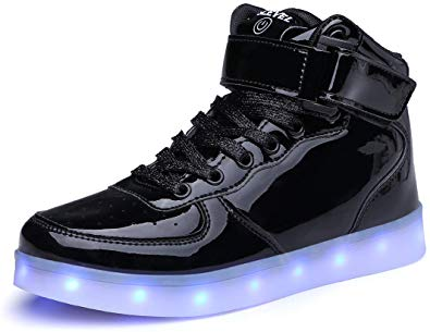 SLEVEL Kids LED Light Up Shoes Dance Dazzle Sneaker for Boys Girls