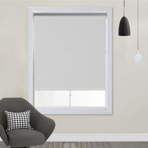 TFSKY Blackout Shades for Bedroom Cordless Roller Blinds and Shades for Windows Blackout Window Blinds for Indoor & Outdoor Use, UV Protection with Spring System White