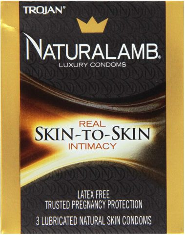 Trojan Naturalamb Condom Lubricated Natural Skin