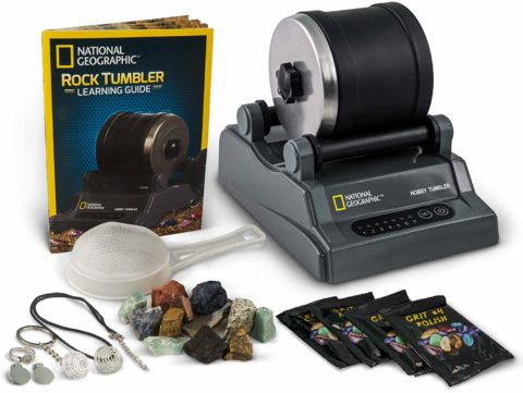 NATIONAL GEOGRAPHIC Hobby Rock Tumbler Kit - Includes Rough Gemstones