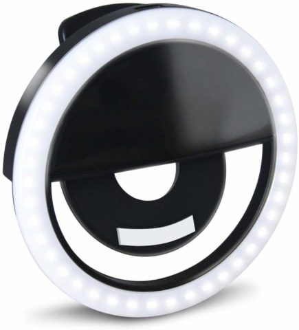 GLOUE Selfie Light Ring Led Circle Clip-on Selfie Fill Light