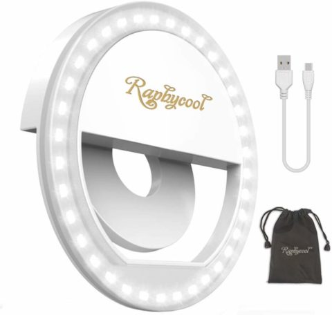 Raphycool Selfie Light Rechargeable Selfie Ring Light